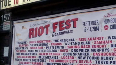 Riot Fest Chicago 2014 - Humboldt Park, Hot Metro Finds, Ted Cantu Covers 3 Days of Music